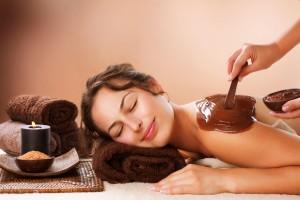 шоколадное обертывание и массаж